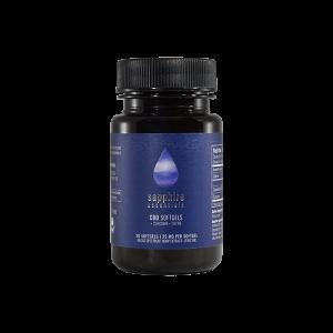 750mg CBD Softgels + Curcumin - Sapphire Essentials